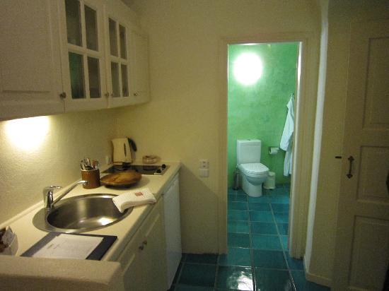 Enigma Apartments & Suites: アパートメントタイプ、ミニキッチン