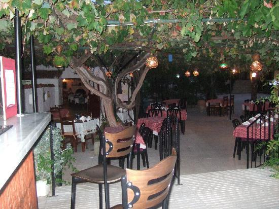 Yakamoz Hotel: Outside restaurant and bar