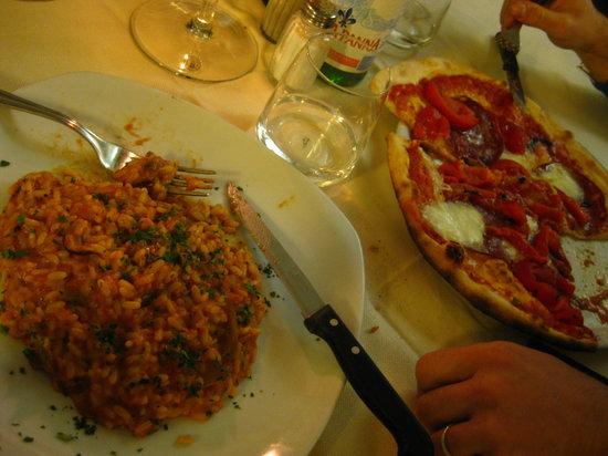 Casa del Vin Santo: Risotto y pizza