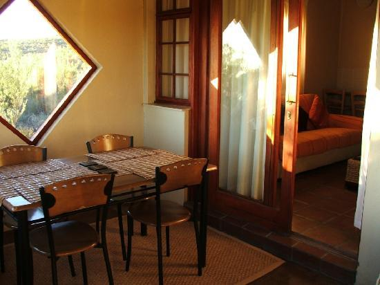 Namaqua National Park: The Dining Area on the Enclosed Veranda, and the Living Room