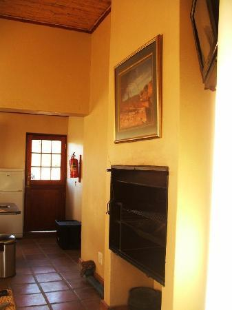 Namaqua National Park : Entrance Door, Kitchen / Living Room with Indoor Fireplace