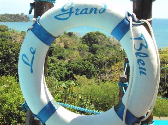 Le Grand Bleu: vue d'un transat sur le canal du mozambique