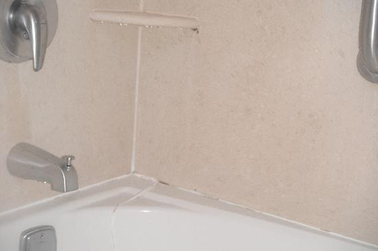Hampton Inn & Suites Youngstown - Canfield: mold and bad repair bathroom