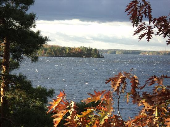 Touchstone on Lake Muskoka: View from deck from diningroom