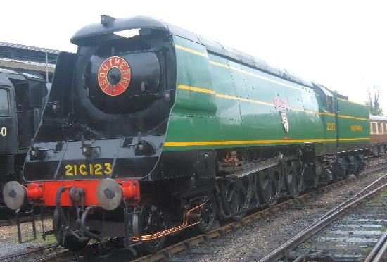 Bluebell Railway: One of the many locos on view, Blackmoor Vale.