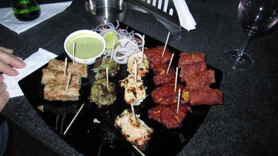 13th Floor Lounge Bar: non-veg platter. YUM