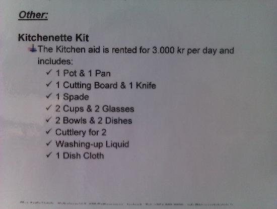 Blue Arctic Hotel Sudurgata: Kitchenette Kit