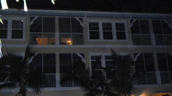 Tortuga Beach Resort: From the dock looking up at suite 266