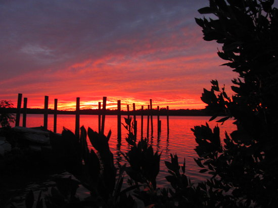 Parkway Motel & Marina: Enjoy the sunsets of Chokoloskee Bay