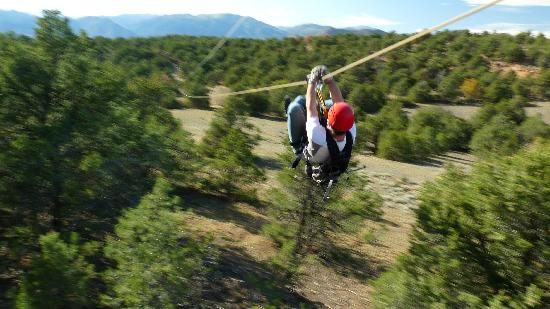 Royal Gorge Zip Line Tours: Going fast...