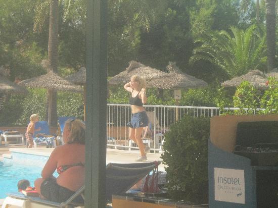 Insotel Cala Mandia Resort & Spa: lydia doing water aerobics