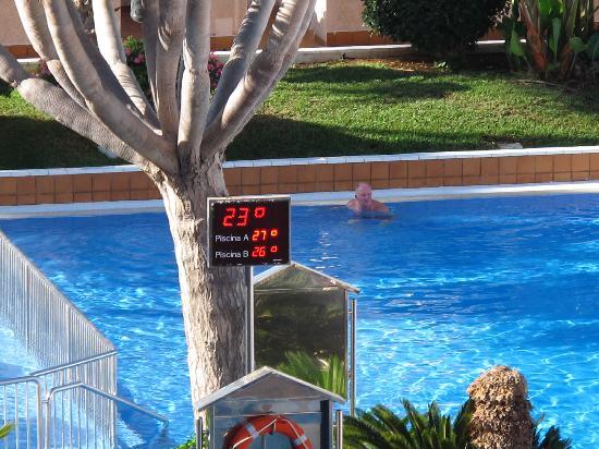 Spring Hotel Vulcano: Morning pool temp