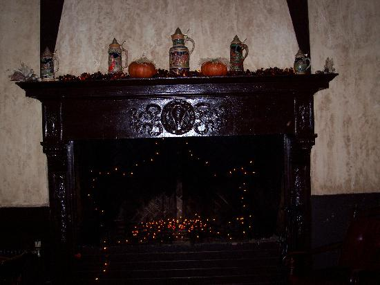 Penn Wells Hotel & Lodge: Fireplace in Hotel Lounge