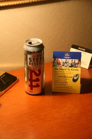 "Best Western Inn at Hunt's Landing: Beer can found in ""cleaned"" room"
