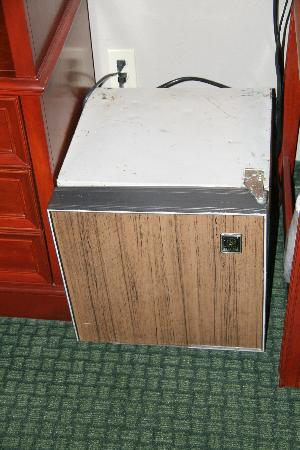 Matamoras, PA: Beat up old micro fridge in room