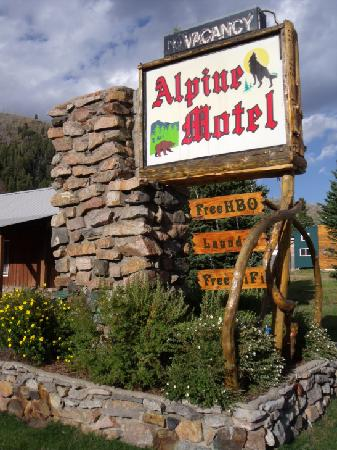 Cooke City Alpine: The Alpine Motel sign.
