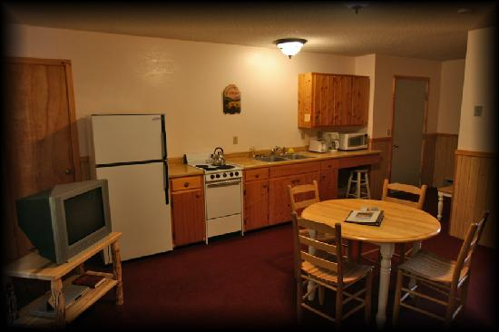 Cooke City Alpine: The kitchen area in one of our suites.
