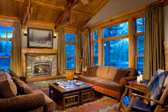 Tamarack Lodge and Resort: LEED Cabin Living Area