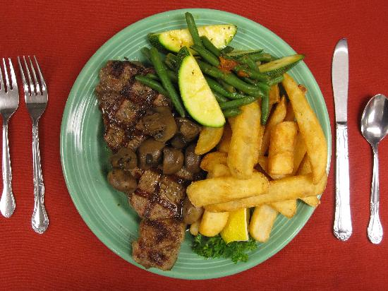Evan's Old Town Grille: Our 12oz. New York choice strip steak