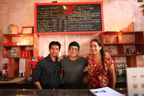 Tretto Caffe: frosty (owner) in the middle with his crew