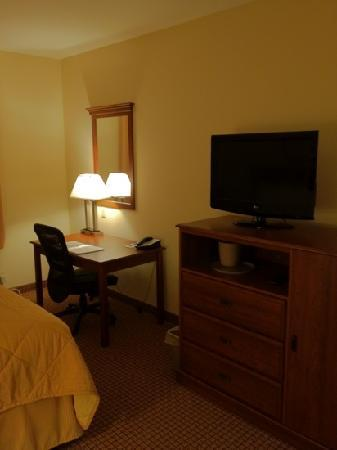 Comfort Inn & Suites: TV and work space