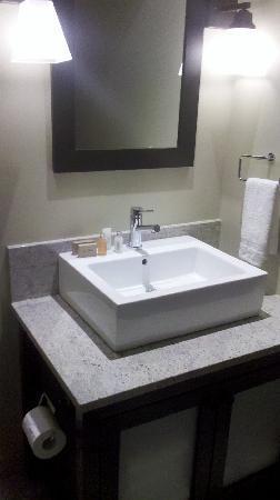 Tremblant Elysium Etoile du Matin : même salle de bain ( celle de la chambre des maîtres est unpeu plus grande )
