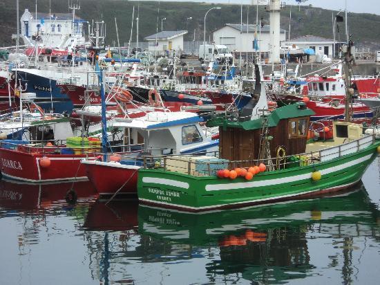 Hotel Villa Auristela: el puerto de luarca, barcos