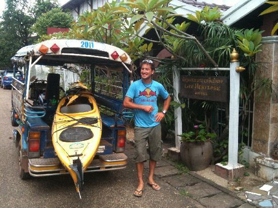 Lao Heritage Hotel: Nous organisons le transport de vos bagages les plus encombrants