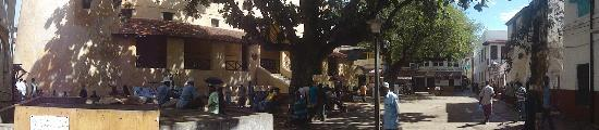 The Square right by Subira House, real Lamu life going on