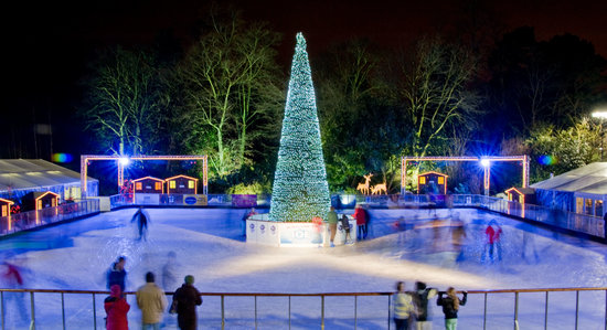 Yorkshire's Winter Wonderland: The magical Ice Rink at night
