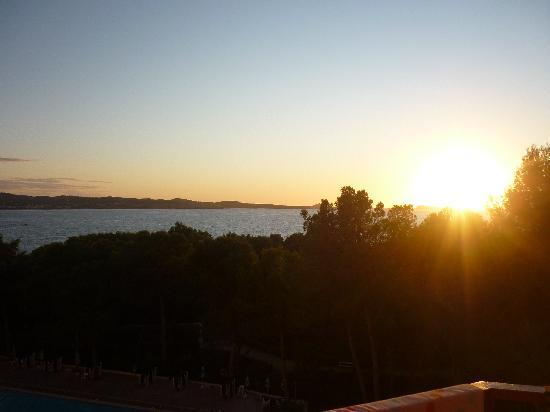 Fiesta Hotel Tanit: View at sunset from Room 436