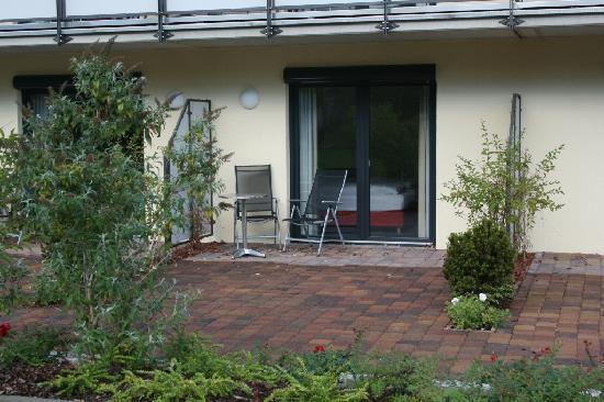 Hotel Sächsische Schweiz: Blick auf die Terrasse