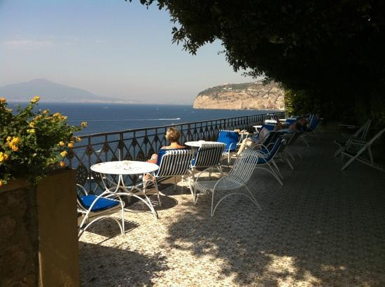 Grand Hotel Ambasciatori: great patio with beautiful views, great spot for a G & T
