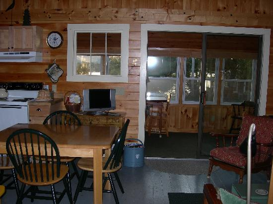 Birch Point Cabins: K2 kitchen and porch