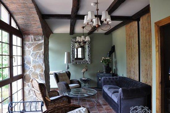 لا كاسا ديل بونتي: Sala de Estar con chimenea