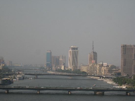Kempinski Nile Hotel Cairo: Outlook from the hotel room 9th floor.