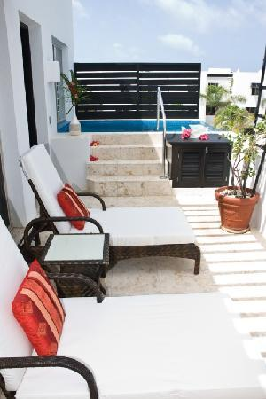 Las Terrazas Resort: All Penthouses feature balcony with either private Jacuzzi or plundge pool