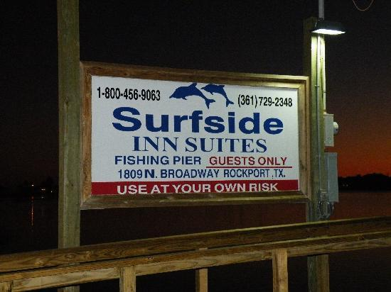 Surfside Inn Suites: Fish from private pier
