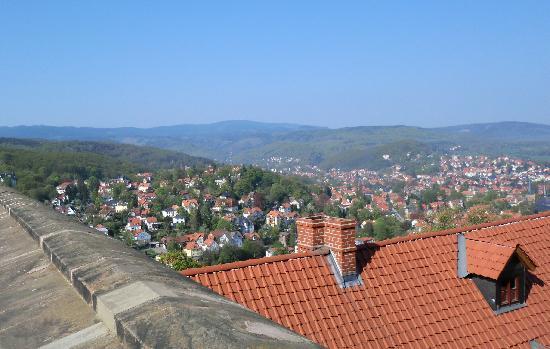 Schloss Wernigerode: Wernigerode Blick vom Schloss