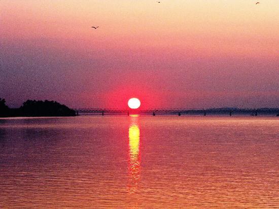 Gauhati, Indien: sunset