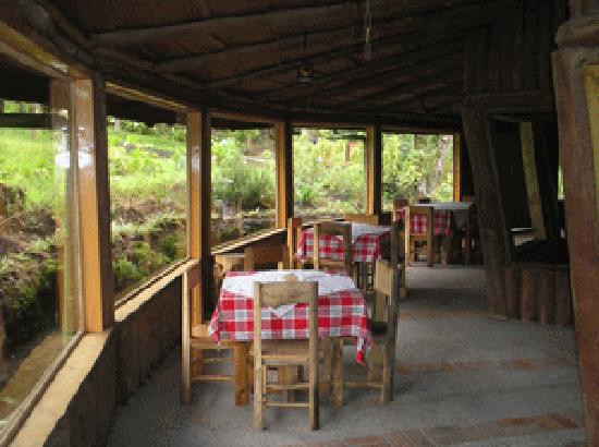 Cabanas Las Ardillas: part of restaurant