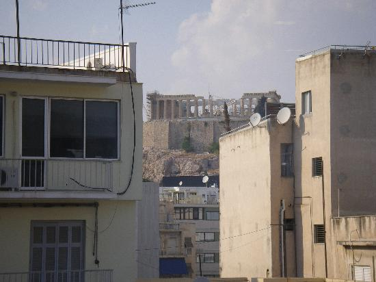 The Athenian Callirhoe Exclusive Hotel: View of Acropolis from room at back