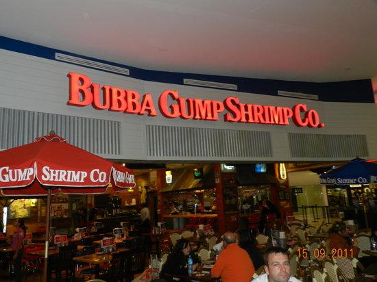Bubba Gump Shrimp Co. : Aviso luminoso del restaurante