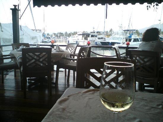 Vista desde la Terraza di Roma a la marina de Puerto Vallarta
