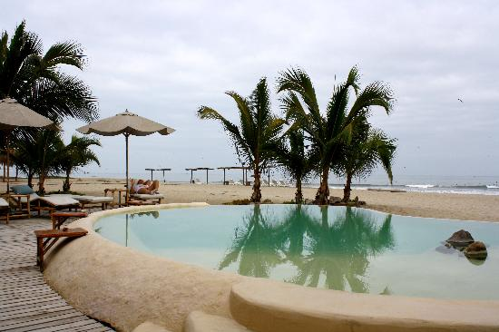 La Posada de los Tumpis: la piscina espectacular con pajaritos cantores que van a beber de alli