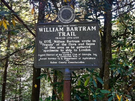 Bartram Trail Sign on Warwoman Road in Clayton, Ga