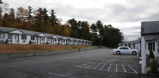 White Birches Motel: Zwei reihen von Motel-Style Zimmern