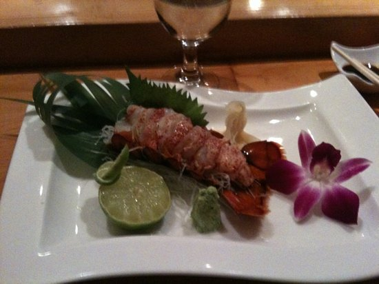 Blue Fin: lobster sashimi