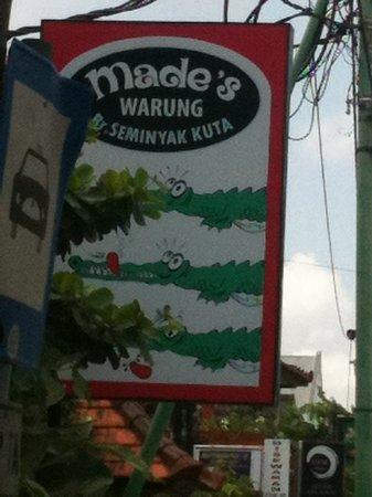 Made's Warung: Sign at entrance