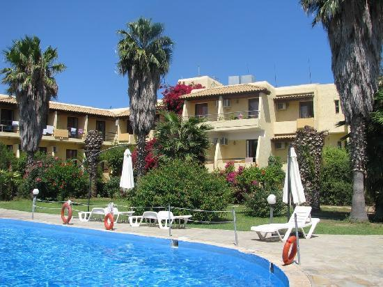 Minoas Hotel, seen from the pool